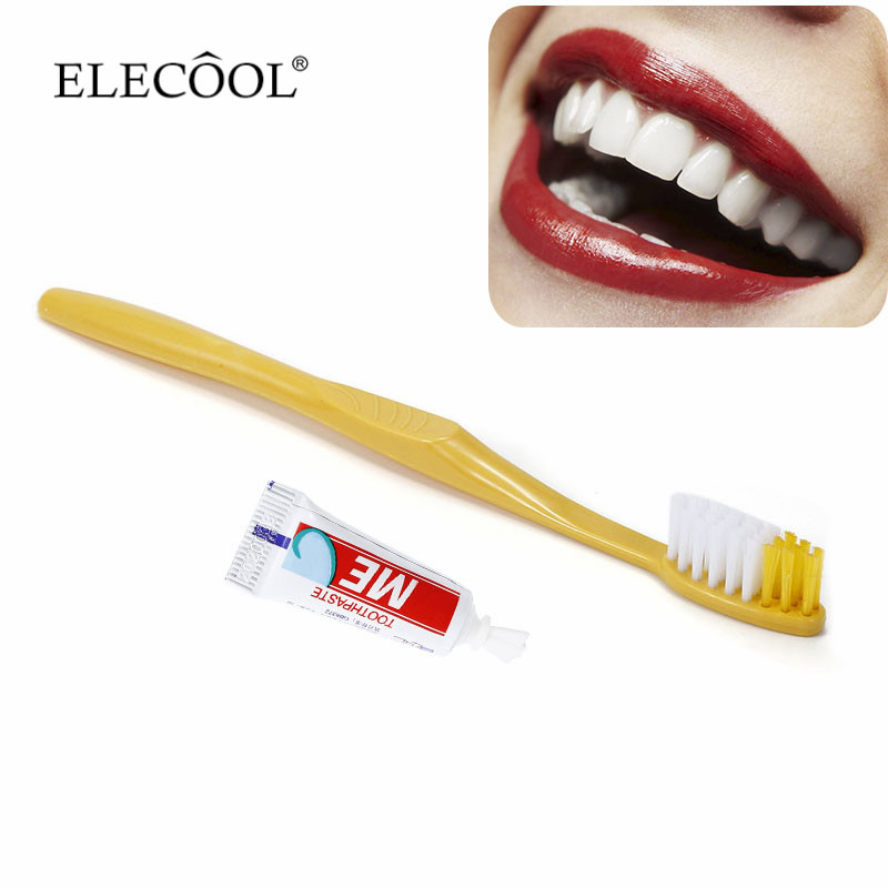 1Pc New Travel Outdoor Disposable Toothbrushes Toothpaste Portable For Camping Festival Dental Care Teeth Cleaning Wash