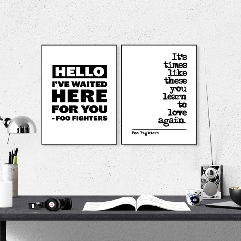 Foo Fighters Song Lyrics Wall Art Posters Prints Minimalist Inspiration Poetry Quote Painting Music Wall Picture Home Room Decor image