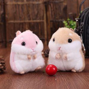 Plush Toys Mini Kawaii Simulation Hamster Cartoon Cute Stuffed Doll Boys Girls Keychain Toy Gifts For Kids Children Keyrings