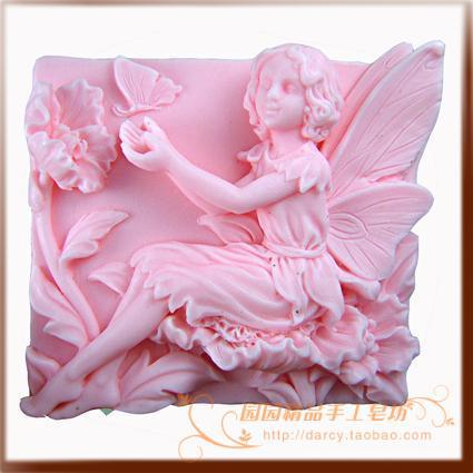 Flower Fairy Butterfly Silicone Soap mold candle mould DIY Carft molds S047