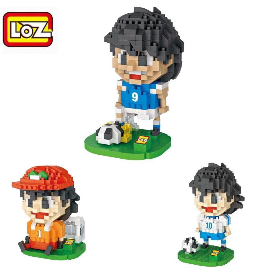 LOZ Blocks Building Bricks Anime brinquedos Model Captain Tsubasa Auction figures Educational Kids toys Boy Present  9548-9550