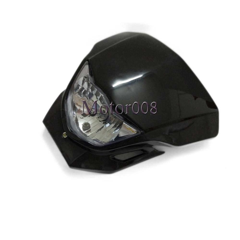 12 V Schwarz Universal Motorrad Scheinwerfer Stirnlampe Für Dirt ...