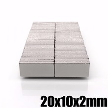 5/10/20/50 шт 20x10x2 неодимовый магнит 20 мм x 10 мм x 2 N35 NdFeB Блок супер сильный Мощный магнит