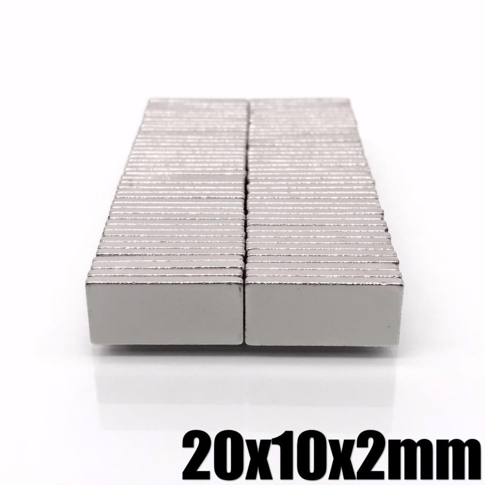 5/10/20/50Pcs 20x10x2 Neodymium Magnet 20mm x 10mm x 2 N35 NdFeB Block Super Powerful Strong Permanent Magnet(China)