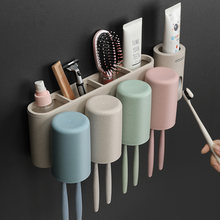 Настенная подставка для зубных щеток диспенсер зубной пасты
