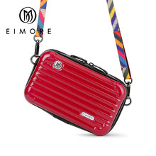 EIMORE 2018 New Designer Women Messenger Bag Trunk Shape Ladies Small Shoulder bag Plastic Organizer Mini Crossbody Bag Female(China)