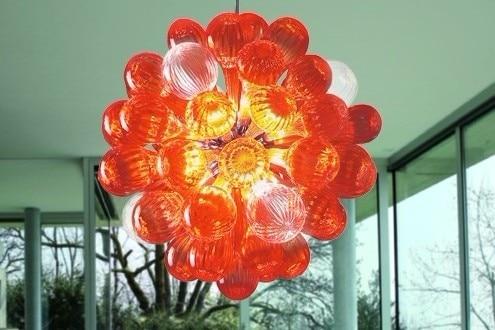Custom-made Glass Balls Chandelier Lamp Modern Home Decorations Living Room Light Round Shape Murano