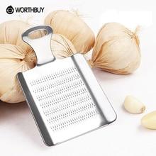 Worthbuy mini portátil de acero inoxidable ajo molienda ajo prensa slicer jengibre chino trituradora de ajo chopper gadgets de cocina
