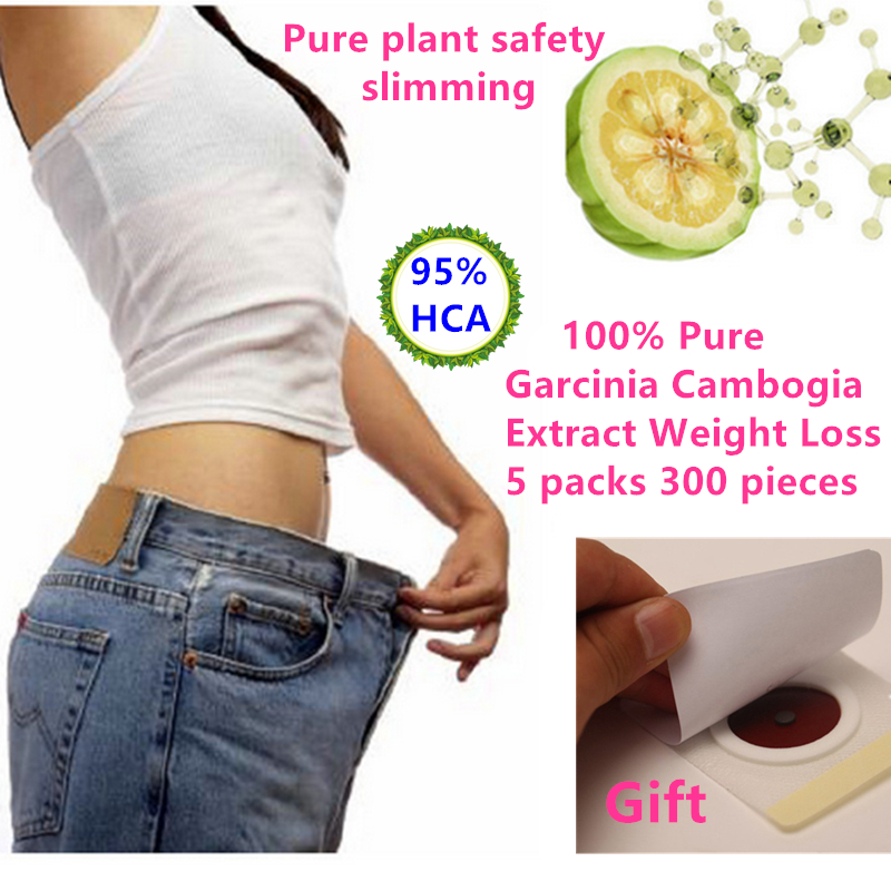 300 pcs 95 HCA Pure Garcinia Cambogia Extract Weight loss Slimming Products to Lose weight and