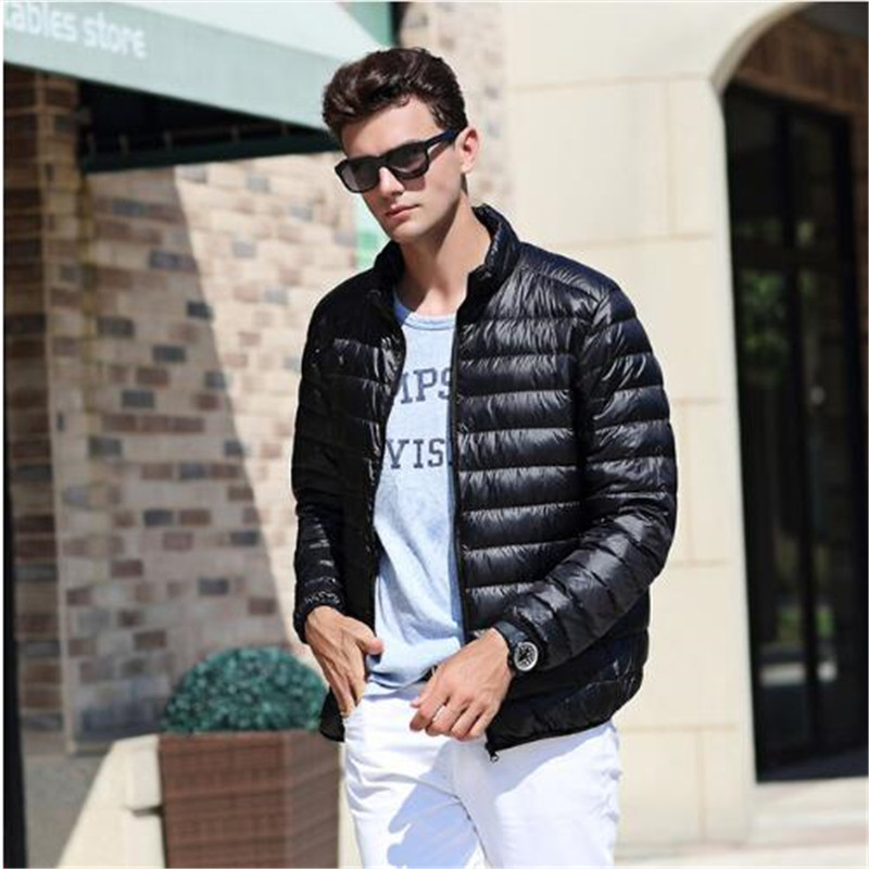 2017 Top Quality Mens Warm Jacket Light Thin 90% White Duck Down Parka Windproof Casual Outer Coat For Men Men's Clothing Jackets & Coats