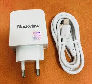 """Image 1 - Oryginalny podróży ładowarka z wtyczką EU Adapter + kabel typu C do Blackview BV9000 Pro Helio P25 Octa rdzenia 5.7 """"FHD darmowa wysyłka"""