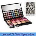 Leopardo cosméticos 72 cores de sombra e Lip Gloss & Blush Palette com espelho Dropshipping