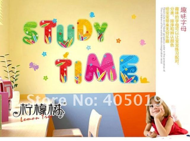 XY8073 Fairly Tale Letters Wall Sticker Alphabet Cling Transparent ...