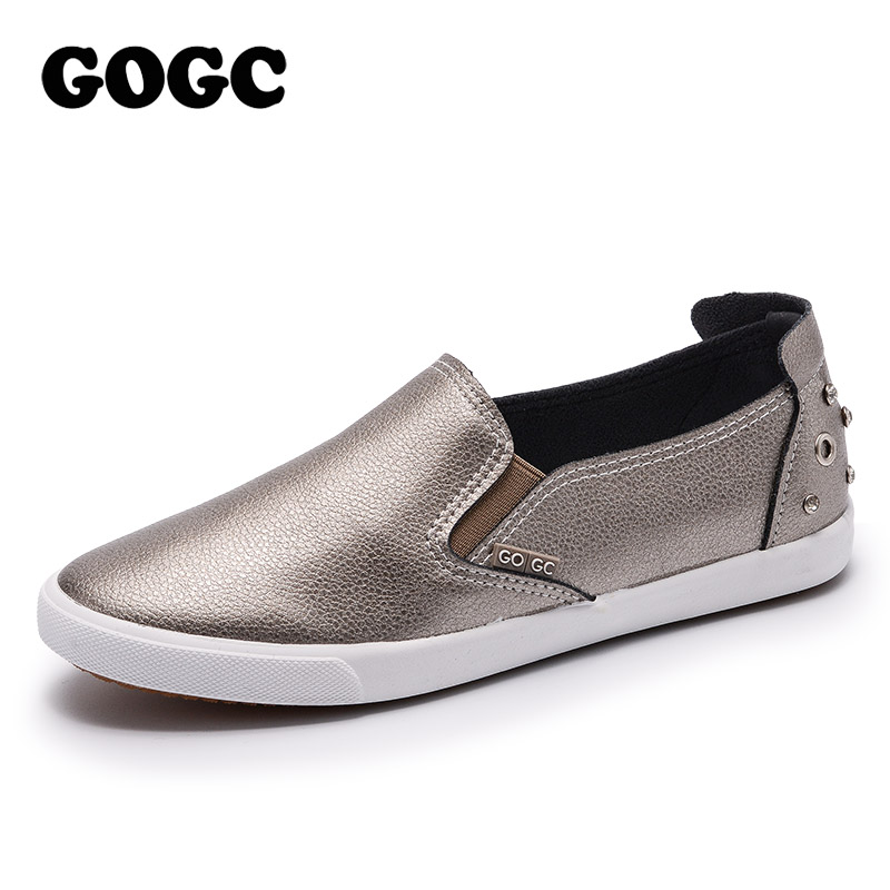 GOGC Marca Studs & Crystal Flat Shoes Mujeres Soft Design Shoes - Zapatos de mujer - foto 3