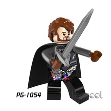 1PCS model building blocks action figures starwars superheroes Robb Stark Ice and Fire Game of Thrones diy toy for children gift(China)