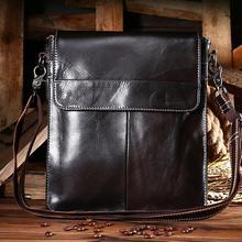 668cb78a2e876 2019 hakiki deri erkek dikey omuz çantası erkekler 'ın küçük askılı çanta  iş çantası