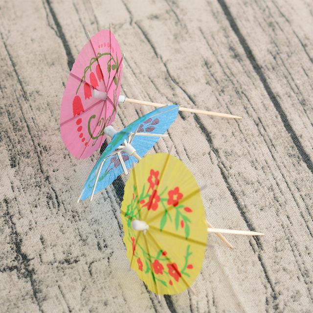 Paper Drink Cocktail Umbrellas -50pcs