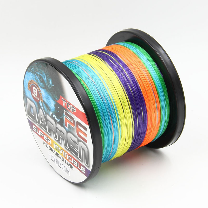 Braided fishing line 8 strands 1000m multi-colors supper pe 10meters for one color changed multifilament fishing wires 5 colors 300m pe braided fishing line hot sale fishing line 4 stands 6lbs to 80lb multifilament pro angling fishing accessories