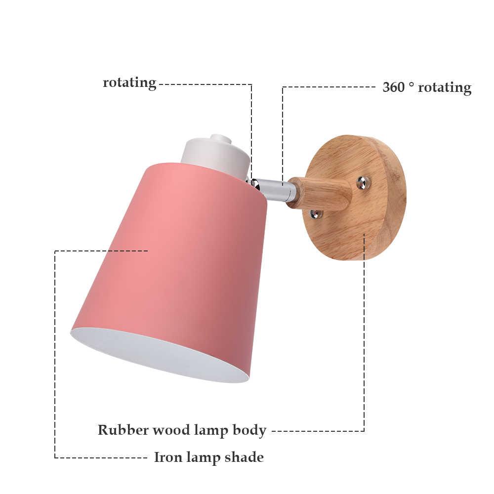 Настенный светильник прикроватный настенный светильник с одной головкой бра современные настенные светильники для спальни Nordic рулевого E27 ac85-260V