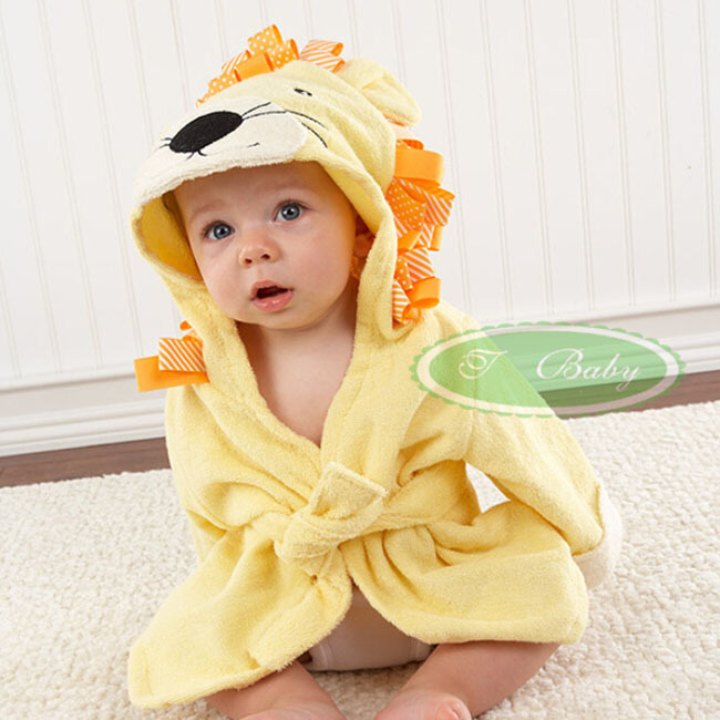 Fashion Cute Cartoon Boy Girl Animal Baby Bathrobe Hooded Bath Towel Kids  Bath Terry Children Infant Bathing Robe Honey Baby-in Bath Towels from Home  ... 0b3ca138e