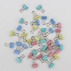 60 шт./лот 15 мм цветные металлические скрепки для бумаги, канцелярские принадлежности
