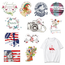 Banner Iron on Patches for Clothing DIY T-shirt Dress Appliques Letter Flower Heat Transfer Washable Stickers Stripes on Clothes цена и фото