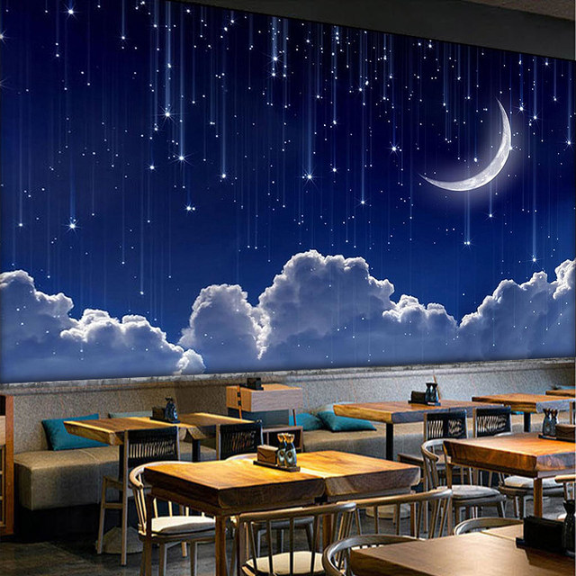 Online Shop Custom 3D Photo Wallpaper Murals 3D Fantasy Sky Moon ...