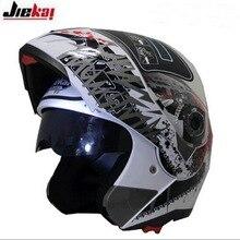 2016 Новый JIEKAI JK105 открытым лицом Мотоциклетный Шлем Мотокросс undrape мотоцикл шлемы, изготовленные из ABS 2 Цветов размер M, L, XL