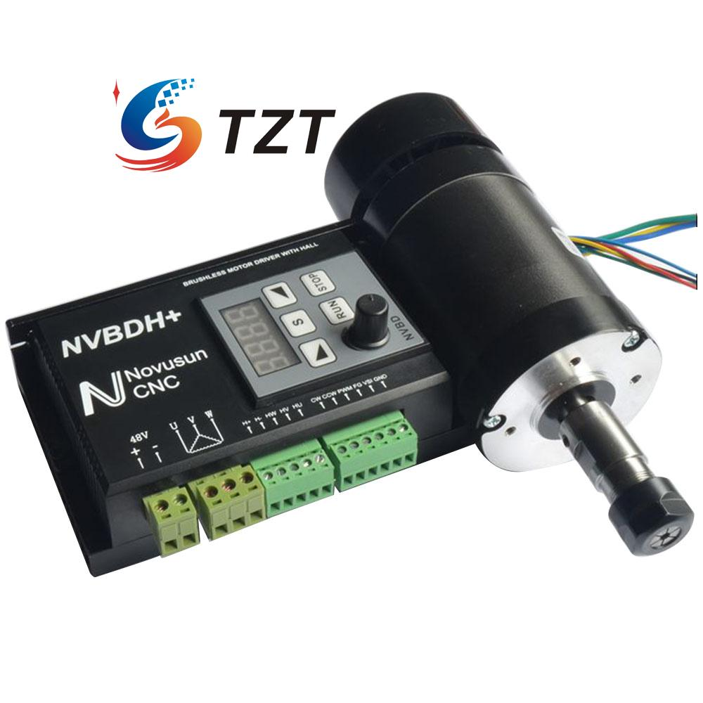 ФОТО Brushless Motor Driver with Hall Controller CNC + Motor/without motor for Spindle Engraving Machine NVBDH+