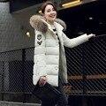 Новый 2016 зимняя куртка женщины Длинные Повседневная Мода Женщин Куртка Женская С Капюшоном Пальто Куртка Плюс Размер Холодный Теплый пиджаки JN802