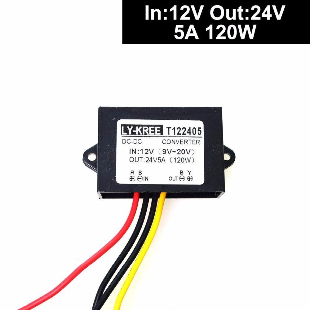 Dc 12v to 24v converter regulator step up 5a 120w power for Power supply for 24v dc motor