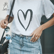 Printed Love Round neck short Sleeve loose T-shirt Tee Tops Short Sleeve O-neck Women T Shirts Casual Thin Style Female T-Shirt coffee printed round neck short sleeves t shirts