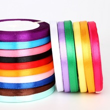 d9bb48cea77c1 30Yards Random Color 7mm Silk Satin Ribbon Polyester Ribbon For Wedding  Party Christmas Decoration Handmade Webbing