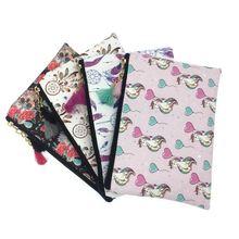 KANDRA Women Dreamcatcher Unicorn Print Zipper Pouch Thin Leather Tassel Cosmetic Toiletry Bag Coin Purse Large Pencil Case