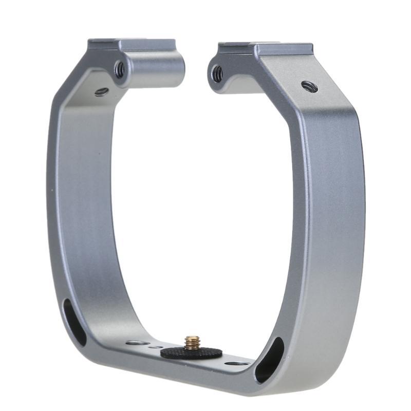 Aluminum Alloy Double Heads Hot Shoe Bracket Fill Light Bracket Handled Bracket for Gopro 3 4 5 6 Xiaoyi Camera use Underwater