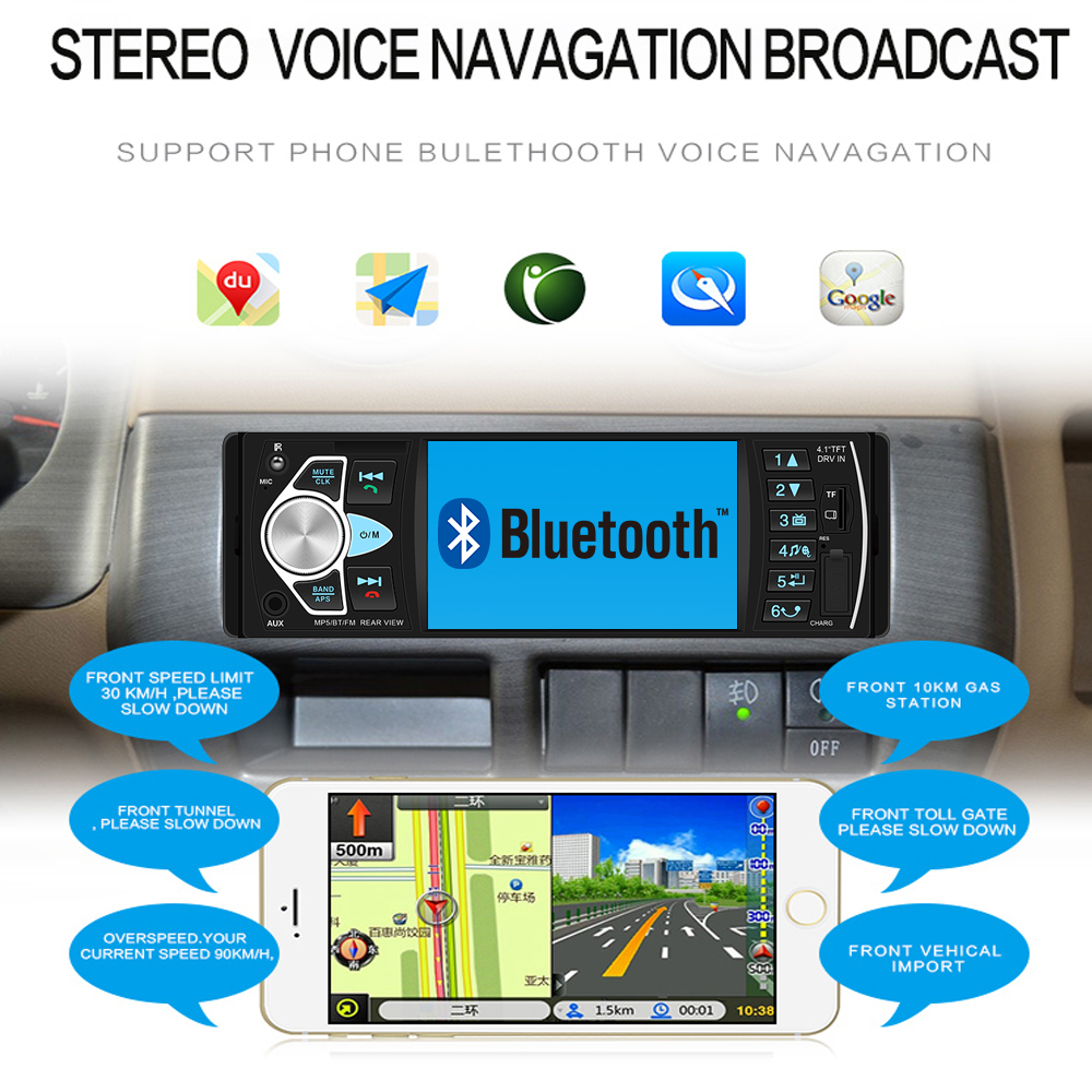 """Image 3 - AMPrime Autoradio 4022D 4.1"""" 1 Din Car Radio Audio Stereo USB AUX FM Audio Player Radio Station With Remote Control Car Audio-in Car Radios from Automobiles & Motorcycles"""