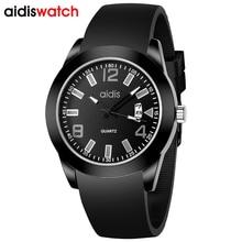 Top Men Watches Luxury Brand Men's Quartz With Date Sports Youngmen Wristwatch Silicone Strap Brand Watch kids