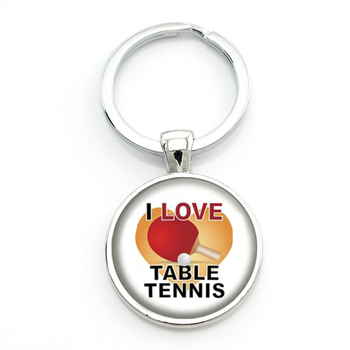 New Arrival men women jewlery fashion Love Table Tennis keychain new pingpong fans gifts key chain ring for sports lover SP330 image