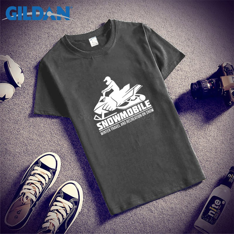 Make Your Own Tshirt Stylish Snowmobile Winter Travel Tee Shirt