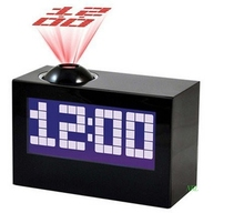 Brand New Black White Multi Function Digital LED Projector Clock For Home Decor Talking Rectangle Projection