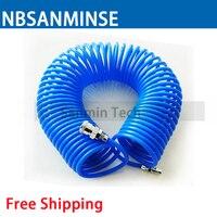Free Shipping Polyurethane PU Air Compressor Hose Tube For Compressor Air Tool Sprial Pu Tube Coil