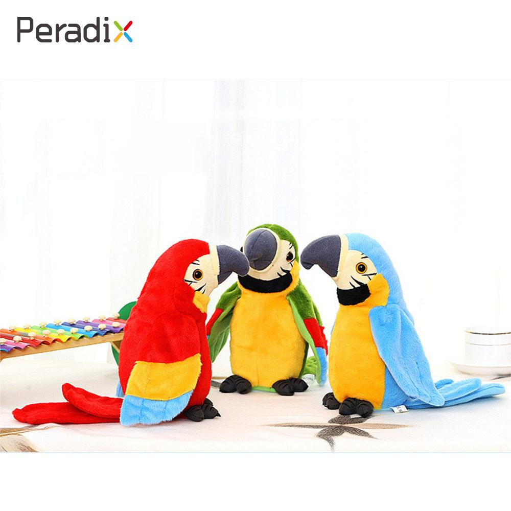 Repeats Parrot Record Parrot Talking Parrot Toy Talking Funny Smart Adorable Plush Toy Kids Birthday Gift