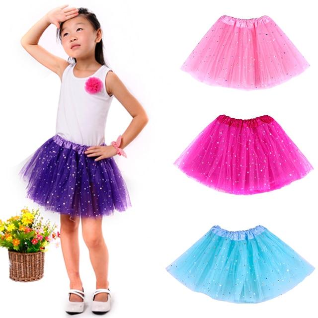 Newest Fashion Pettiskirt 2-8t Girls Baby Tutu Tulle Skirt Kids Glitter  Star Tutu Sequin Tutu Skirts Girls Skirts For Girls 6f3316df3925