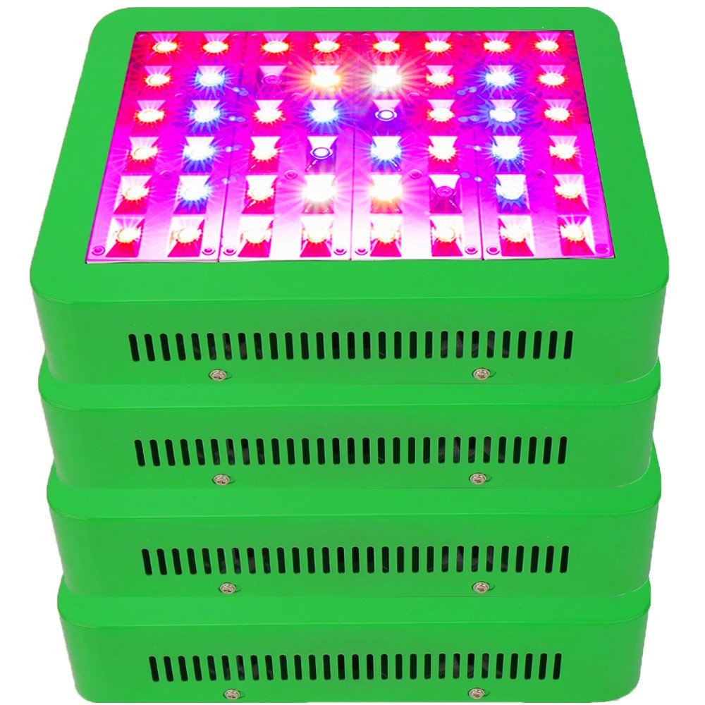 4PCS Reflector 300W LED Grow Light Full Spectrum double Switch LED Plant Lamp For Greenhouse Grow Box Hydroponics Indoor Plants led grow light 300w 450w smd 600w 1000w double chips full spectrum 410 730nm plant grow lamps for hydroponics indoor grow box