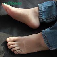 Size 44#, Height 19cm Male Silicone Fake Foot,Inner Bone Inside,Toe Move Freely,Feet Model,Shoe Model F 501