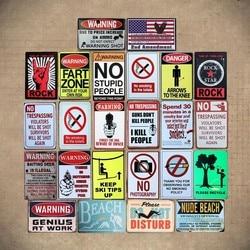 WARNING GENIUS AT WORK VINTAGE Tin Sign Bar pub home Wall Decor Retro Metal ART Poster
