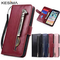 Zipper Flip Wallet Leather Case for HuaWei Honor 20i 20 10 10i 8 9 Lite Honor 8A 8X 8C 8S 7C 7A Pro Fundas Soft TPU Card Holder