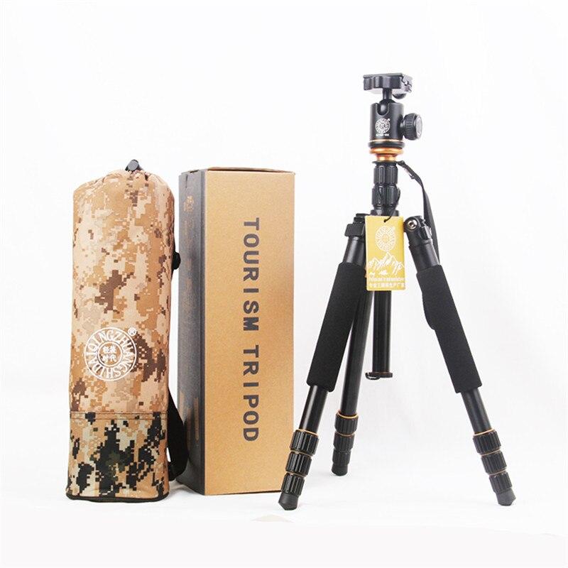 QZSD Q999S Professional Q-999S Photography Portable Aluminum Ball Head+Tripod For Canon Nikon Sony DSLR Camera