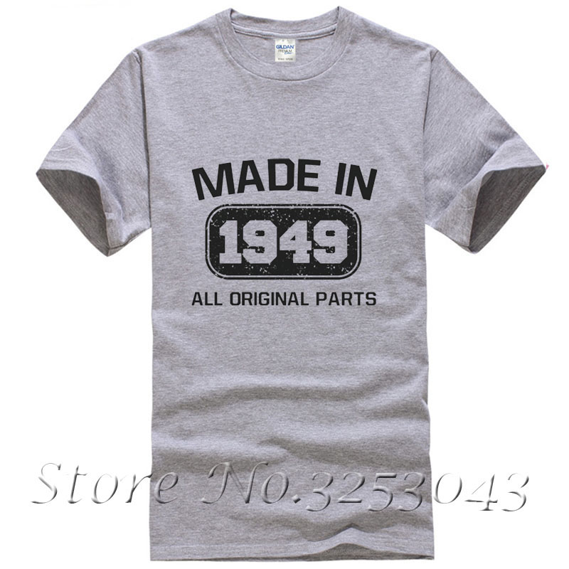 Made In 1949 T Shirt 65th Birthday Funny Gift Idea Present Fathers Day Tee Top Shirts From Mens Clothing On Aliexpress