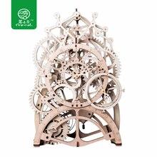 Robud 4 вида DIY подвижная механическая модель строительные наборы по Заводной деревянные игрушки подарок для мальчиков и девочек LK501 для дропшиппинг